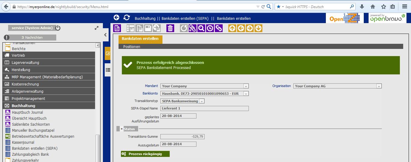 SEPA Bankeinzug anweisung 12