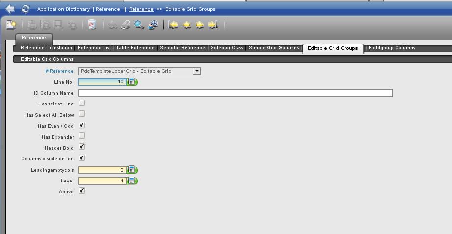 Editable Grid Group