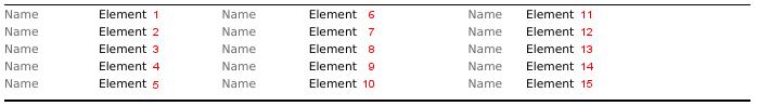 Dokumentenkopf Elementanordnung auf Druck