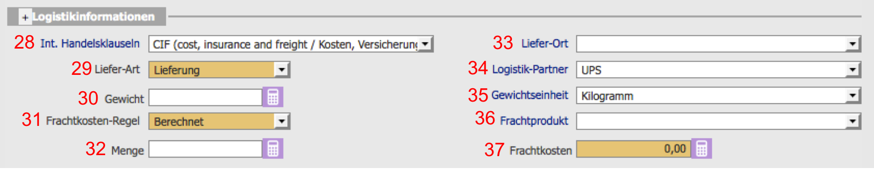 Logistikinformationen